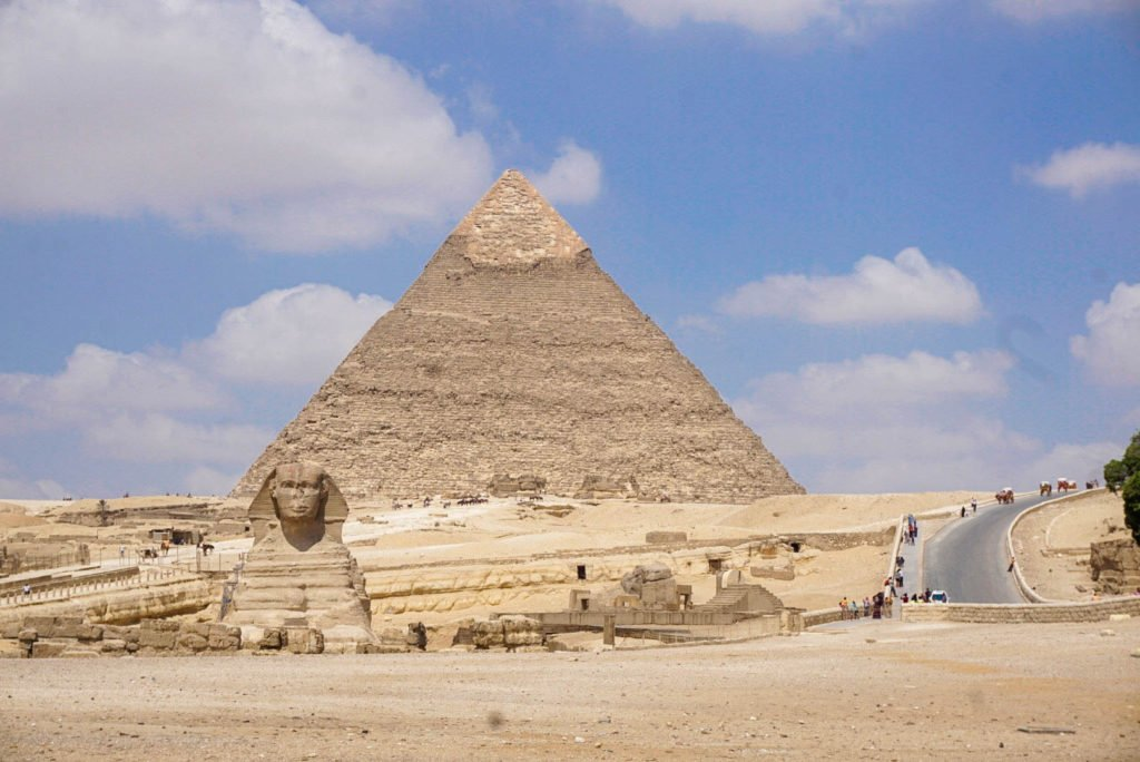 Egypt pyramids with Sphinx
