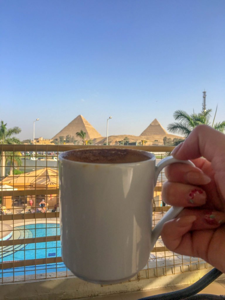 Experience Egypt with a coffee with a view